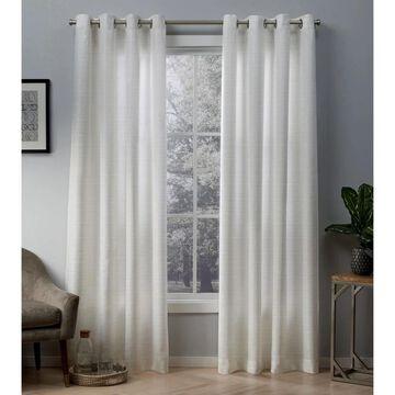 ATI Home Whitby Metallic Grommet Top Curtain Panel Pair