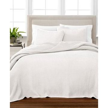 Martha Stewart Collection Waffle King Oversized Bedspread, Created for Macy's