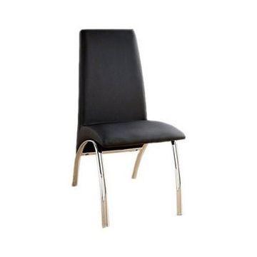 Contemporary Side Chair Black Universe - Benzara