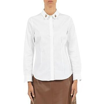 Peserico Embroidered Collar Blouse