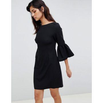 Vesper bell sleeve jacquard midi dress
