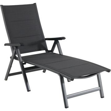Hanover Regis Padded Sling Chaise in Gray