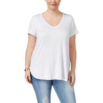 Celebrity Pink Womens Plus V-Neck Casual T-Shirt