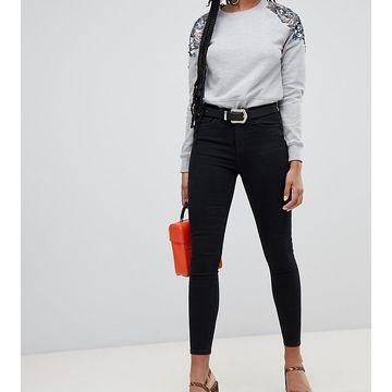 Miss Selfridge high waist skinny jeans in black