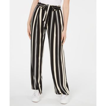 Juniors' Striped Tie-Waist Pants