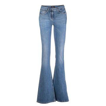 Blumarine Flared Jeans In Light Blue Denim