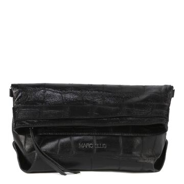 Marc Ellis Dalila M Clutch Bag In Crocodile-effect Embossed Leather