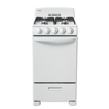 """Danby 20"""" Gas Range with 2.3 Cu Ft Oven in White, DR202WGLP"""