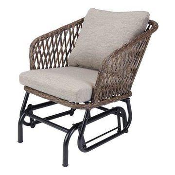 Mainstays Battle Creek Outdoor Wicker Glider Chair