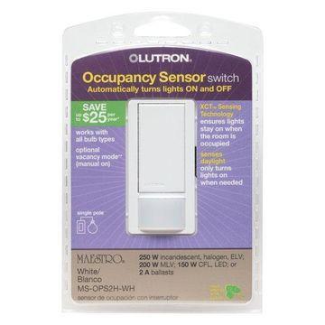 Lutron White Occupancy Sensor Switch