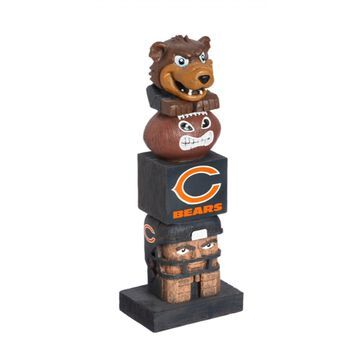 Evergreen Chicago Bears Tiki Totem