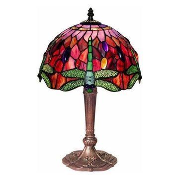 Warehouse of Tiffany 305C-Mb45 Dragonfly Table Lamp