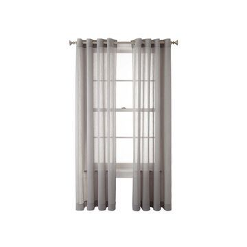 Home Expressions Crushed Voile Grommet-Top Sheer Curtain Panel