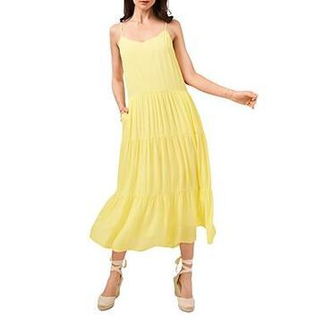1.state V Neck Tiered Maxi Dress
