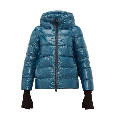 Herno - Cropped Down Filled Jacket - Womens - Blue