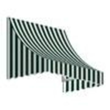 Awntech Nantucket 40.5-in Wide x 24-in Projection Striped Crescent Window/Door Fixed Awning