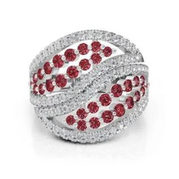 14K Gold Diamond (1.00 Ct, G-H Color, SI2-I1 Clarity) & Ruby Ring by Noray Designs