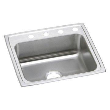 Elkay Celebrity Stainless Steel Sink, Brushed Satin, Faucet Holes: 1