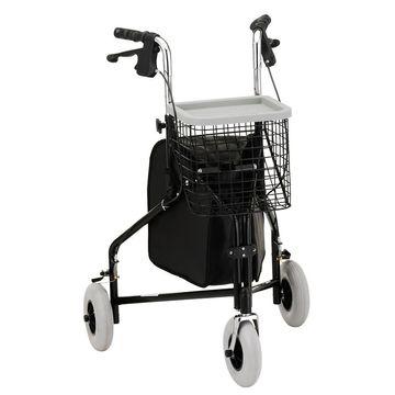 Nova Traveler 3 Wheel Walker Black