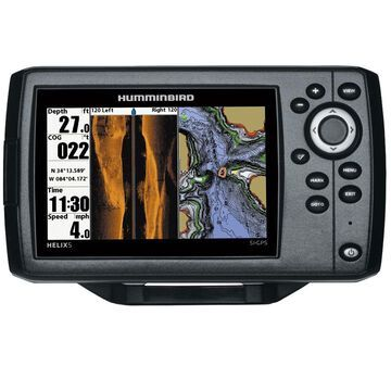 Humminbird Helix 5 G2 CHIRP SI/GPS Combo 410230-1 w/ 5 Color TFT Display & HD Side Imaging Sonar