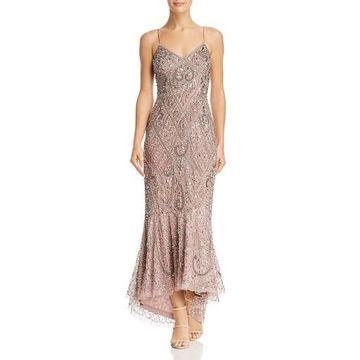 Aidan Mattox Womens Embellished Cocktail Evening Dress