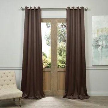 Exclusive Fabrics Grommet Java Designer Blackout Curtain Panel Pair (50 X 108)