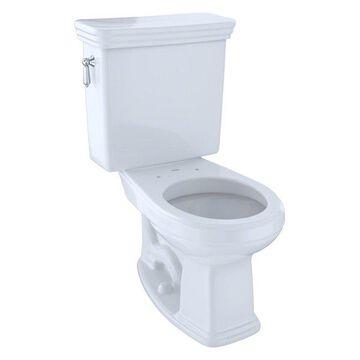 Toto Promenade Round Two-Piece Toilet, 1.6 GPF CST423SF#01 Cotton White