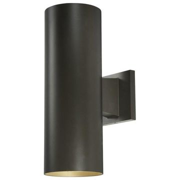 Volume Lighting 2-Light Black Outdoor Wall Sconce