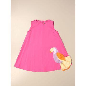 Il Gufo cotton dress with application