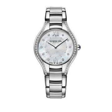 Silvertone Diamond Watch