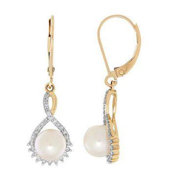 Sofia Sofia 1/5 CT. T.W. Genuine White Cultured Freshwater Pearl 10K Gold Drop Earrings Family