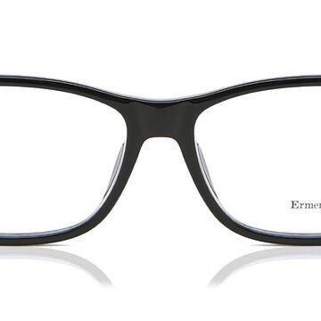 Ermenegildo Zegna EZ5013F Asian Fit 001 Men's Glasses Black Size 59 - Free Lenses - HSA/FSA Insurance - Blue Light Block Available