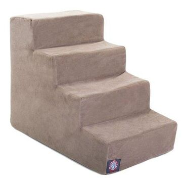 Majestic Pet Suede Pet Stairs 4 Steps Stone Machine Washable Removable Cover 24