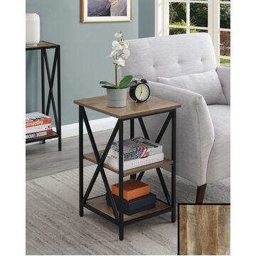 Convenience Concepts Tucson End Table with Shelves, Multiple Finishes