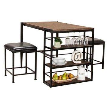Sunset Trading Elm 3-Piece Counter Height Table Set