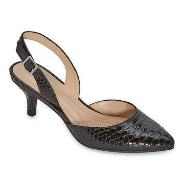 Andrew Geller Womens Neveah Pumps Pointed Toe Kitten Heel
