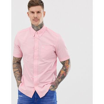 Fred Perry short sleeve oxford shirt in pink