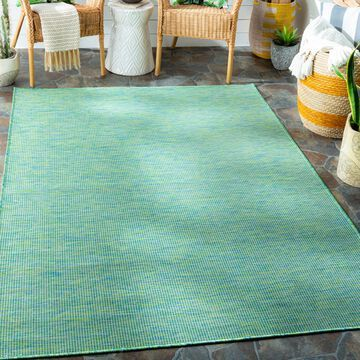 """Art of Knot Zalie Sky Blue 6'4"""" x 9' Traditional Solid Rectangle Area Rug"""