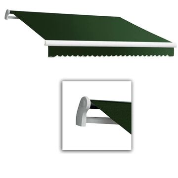Awntech Maui 216-in Wide x 120-in Projection Forest Solid Motorized Retractable Patio Awning in Green | MTR18-L-F