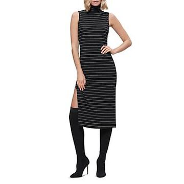 Paige Danisha Striped Midi Turtleneck Dress