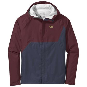 Outdoor Research Men's Apollo Jacket - Small - Burgundy / Naval Blue