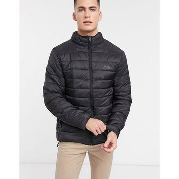 Bellfield funnel neck faux down jacket in black