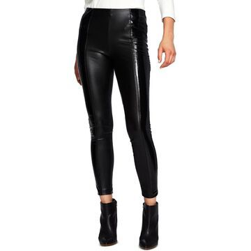 1.State Womens Leather Pants Stretch Patent