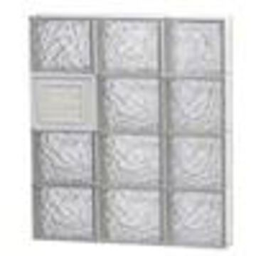 REDI2SET Ice Glass Pattern Frameless Replacement Glass Block Window (Rough Opening: 24-in x 32-in; Actual: 23.25-in x 31-in)