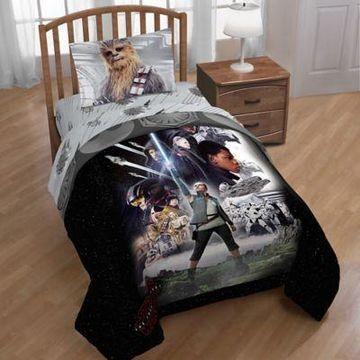 Star Wars Episode 8 Epic Poster Reversible Twin Comforter in Black
