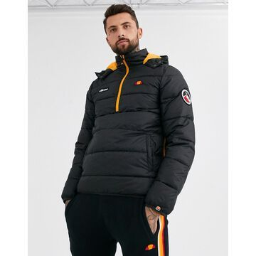 ellesse Narni half-zip padded jacket in black