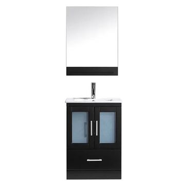 Virtu USA Ava 24-inch Espresso Single Sink Vanity
