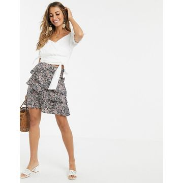 Y.A.S paisley print mini skirt