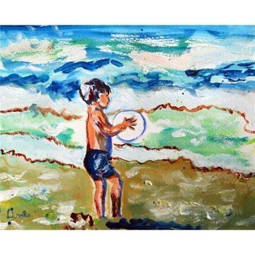 Betsy Drake DM831G 30 x 50 in. Boy & Surf Doormat