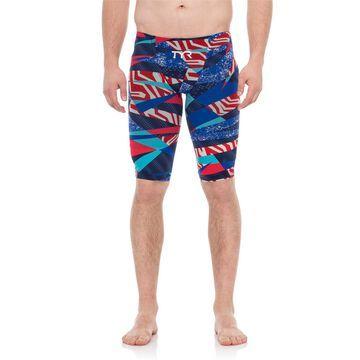 TYR Red/White/Blue Avictor Prelude Male Short Jammer Swimsuit (For Men)
